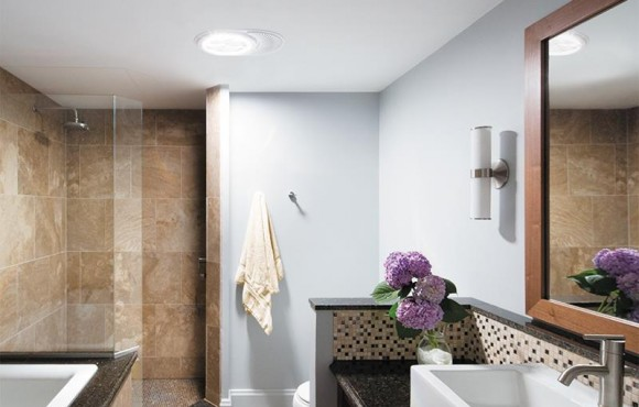 Daylighting Device Bathroom with vent fan