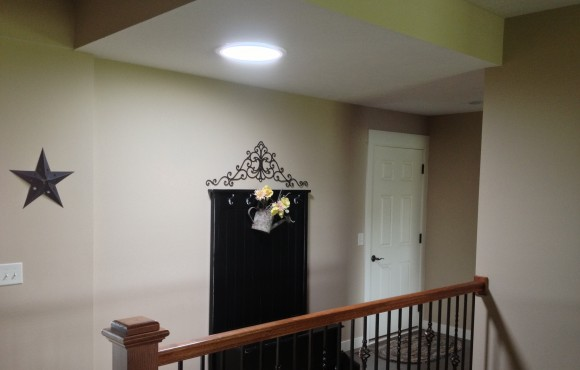 daylighting device in foyer